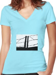 Barbed 2 Women's Fitted V-Neck T-Shirt