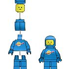 Building Benny, the blue spaceman by redcow