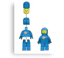 Building Benny, the blue spaceman Canvas Print