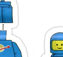 Building Benny, the blue spaceman Sticker