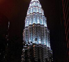 Silver Glow at Night III - Kuala Lumpur, Malaysia. by Tiffany Lenoir