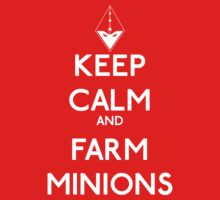 Keep calm and farm minions - League of legends Kids Clothes