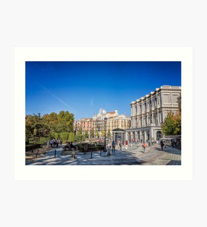 Oriente Square in Madrid Art Print