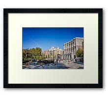 Oriente Square in Madrid Framed Print