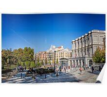 Oriente Square in Madrid Poster