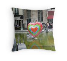 Fontaine des Automates V Throw Pillow