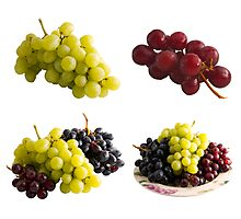 Fresh Isolated Grapes Photographic Print