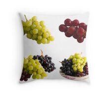 Fresh Isolated Grapes Throw Pillow