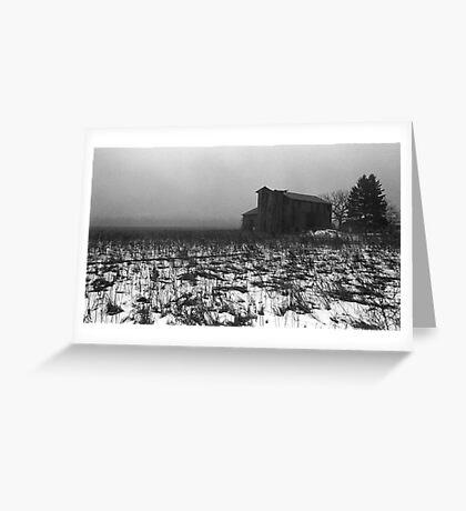 pennsylvania foggy barn Greeting Card