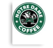 Notre Dame Coffee Canvas Print