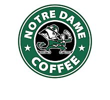 Notre Dame Coffee Photographic Print