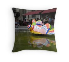 Fontaine des Automates VII Throw Pillow