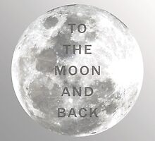 Art Print - To the moon and back - Photo and Quote - Typography by CCDesign
