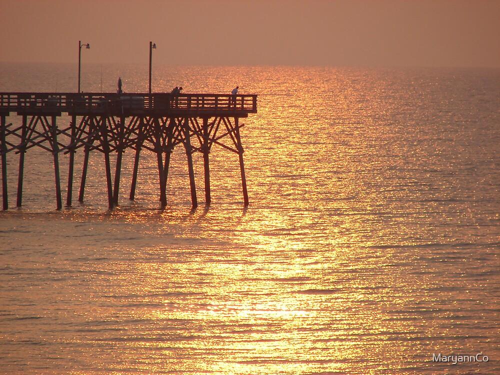 Pier at dawn by MaryannCo