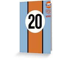 917 Le Mans Gulf 20 Greeting Card