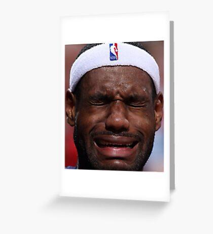 Celebs Crying Greeting Card