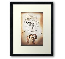 From Under the Shadow - [A Scribble] Framed Print
