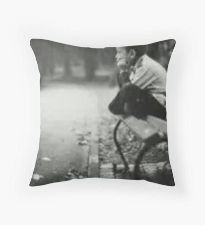 boring,wait u Throw Pillow
