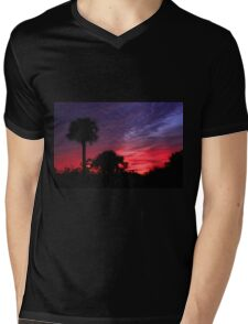 FLORIDA SUNSET Mens V-Neck T-Shirt
