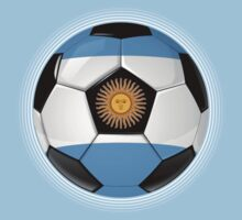Argentina - Argentine Flag - Football or Soccer T-Shirt