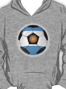 Argentina - Argentine Flag - Football or Soccer T-Shirt
