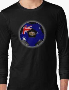 Australia - Australian Flag - Football or Soccer Long Sleeve T-Shirt