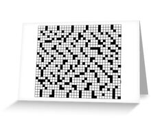 Crossword Pattern Greeting Card