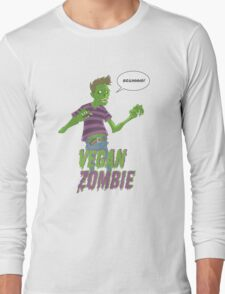 Vegan Zombie Long Sleeve T-Shirt