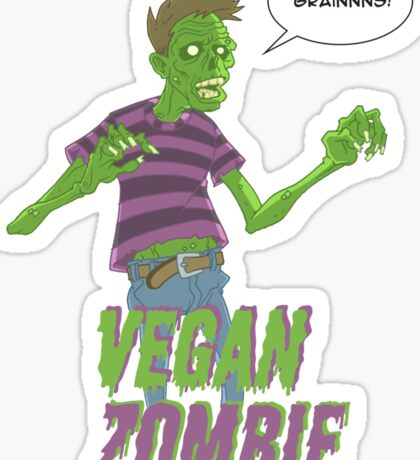 Vegan Zombie Sticker