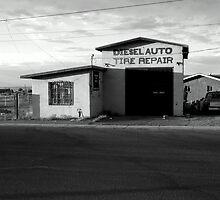 Diesel Tyre Repair Workshop by Simon Mears