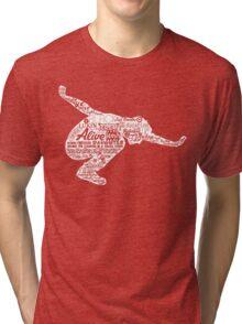 Seattle Grunge Song Collage Tri-blend T-Shirt