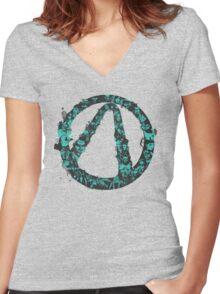 Vault Hunters Women's Fitted V-Neck T-Shirt