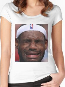 Celebs Crying Women's Fitted Scoop T-Shirt
