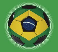 Brazil - Brazilian Flag - Football or Soccer T-Shirt