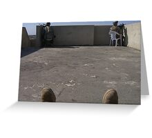 Rooftop security Greeting Card