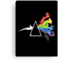 eeve's evolutions as pink floyd cd cover Canvas Print