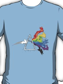 eeve's evolutions as pink floyd cd cover T-Shirt