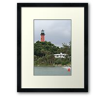 Through The Tress There Is Light Framed Print