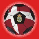 Denmark - Danish Flag - Football or Soccer by graphix
