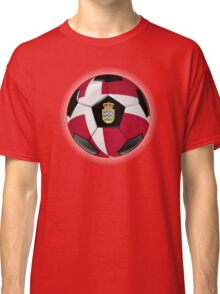 Denmark - Danish Flag - Football or Soccer Classic T-Shirt