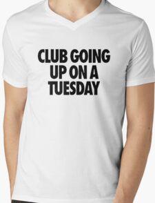 Club Going Up On A Tuesday [Black] Mens V-Neck T-Shirt