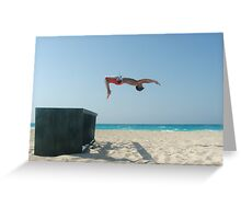 BeachFlip Greeting Card