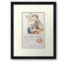 How to Make Good Custard - (A 1940's Ad)  Framed Print