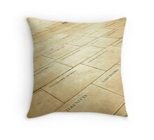 Outside the Globe Theatre Throw Pillow