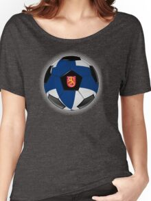Finland - Finnish Flag - Football or Soccer Women's Relaxed Fit T-Shirt