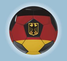 Germany - German Flag - Football or Soccer Kids Clothes