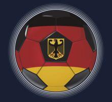 Germany - German Flag - Football or Soccer Kids Tee