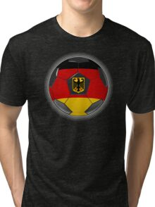 Germany - German Flag - Football or Soccer Tri-blend T-Shirt