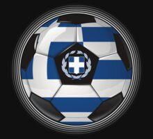 Greece - Greek Flag - Football or Soccer by graphix