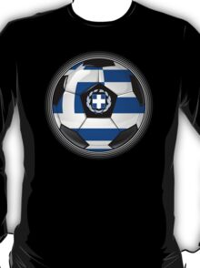 Greece - Greek Flag - Football or Soccer T-Shirt